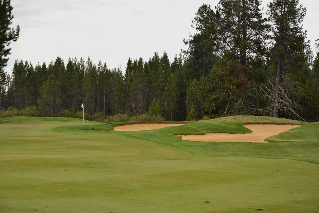 Approach shot on hole 15 at Crosswater Golf Club in Sunriver, Oregon