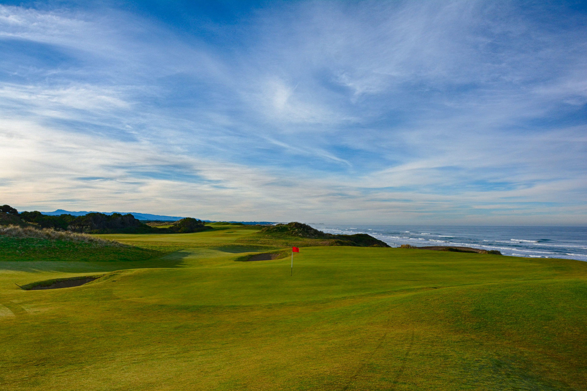 Looking back at the 4th on Bandon Dunes