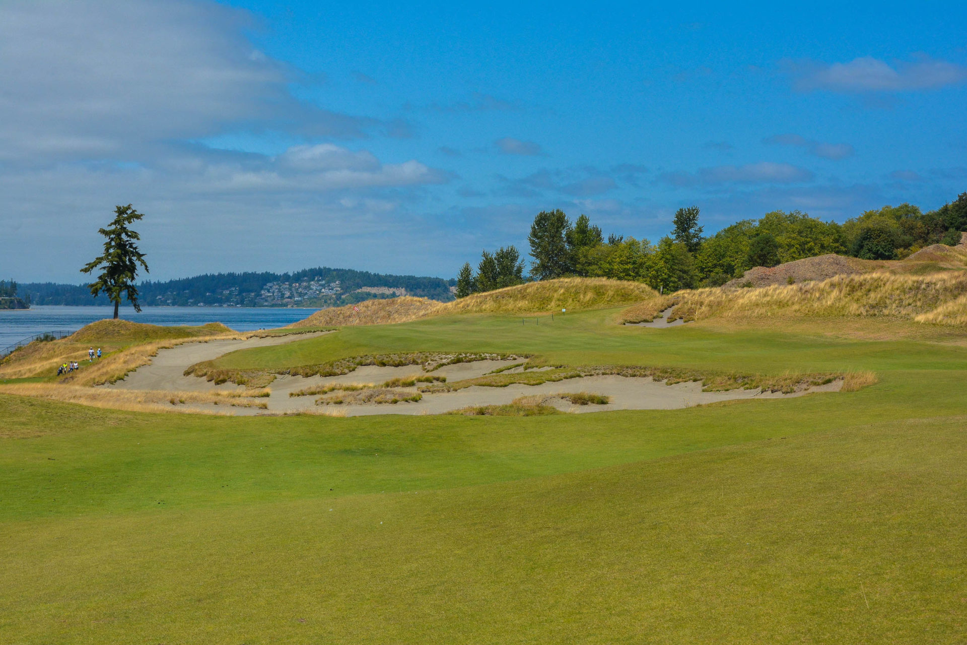 The beautiful second hole at Chambers Bay.