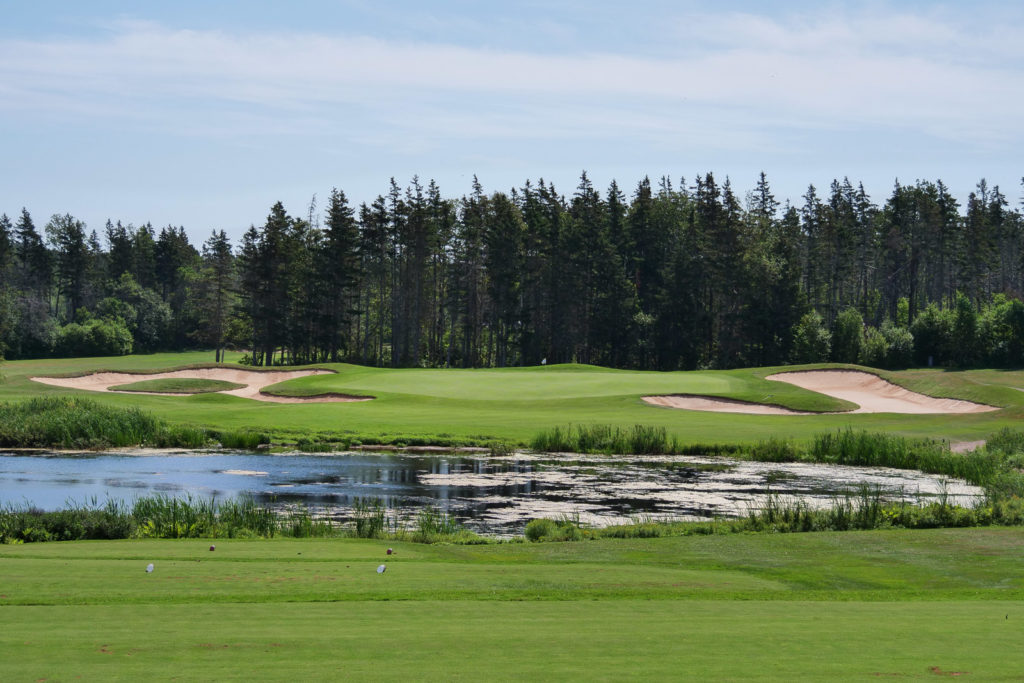 The par 3, 16th at Green Gables.